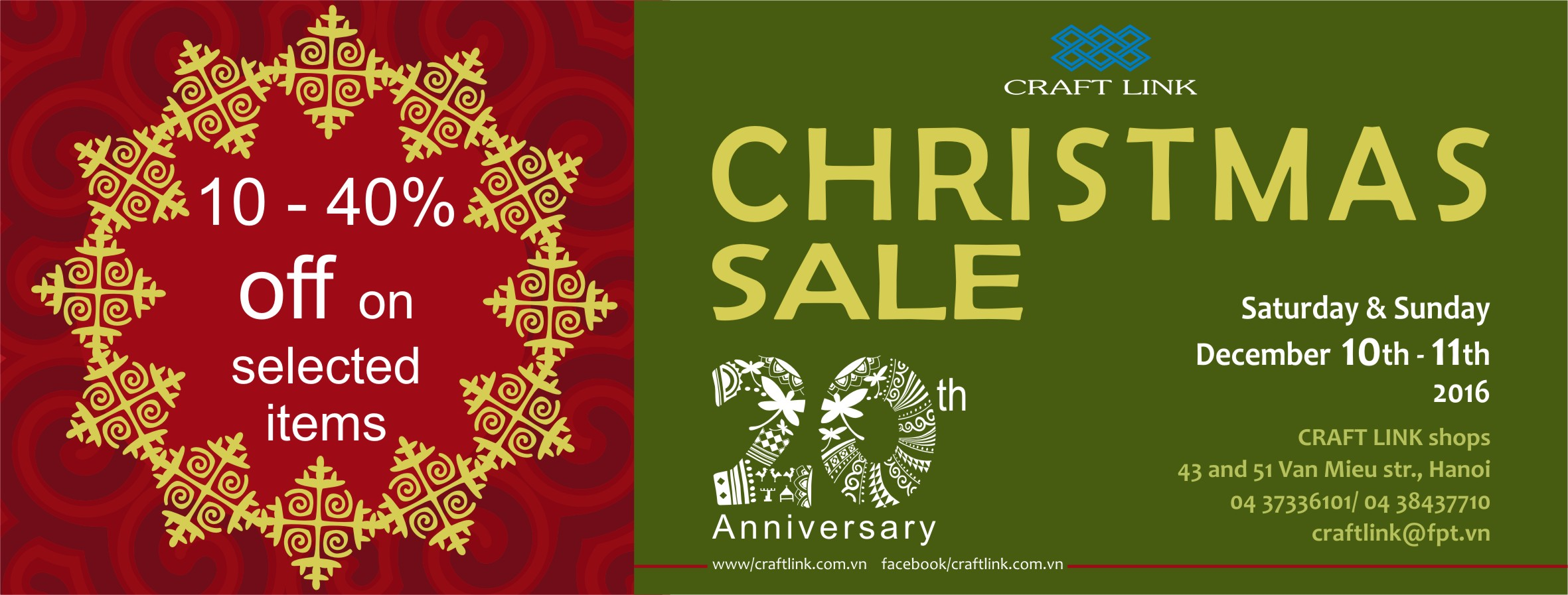 CRAFT LINK CHRISTMAS SALE !