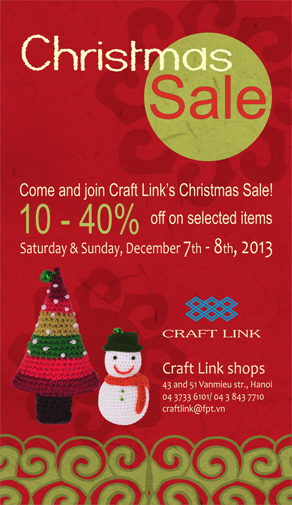 Craft Link Christmas Sale 2013